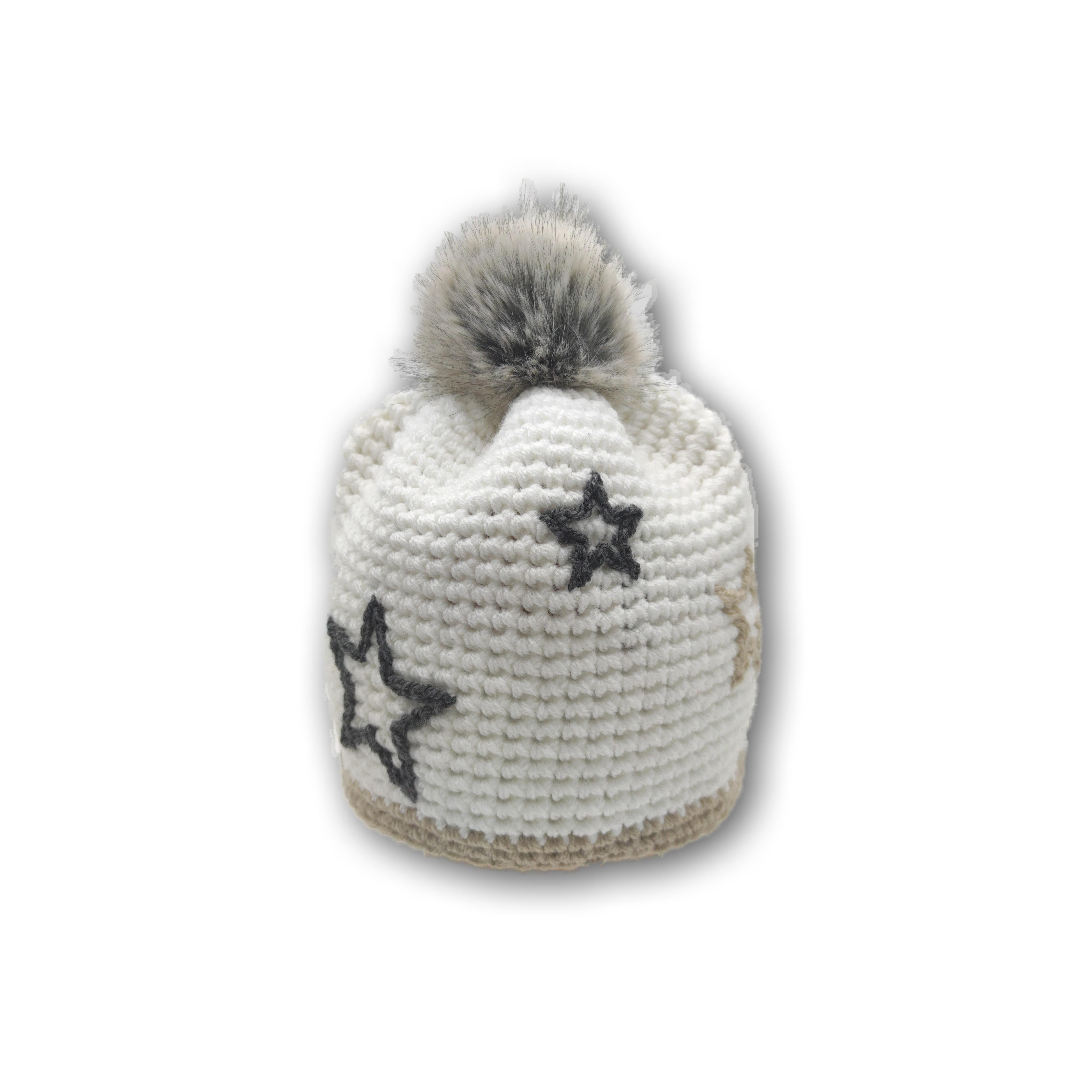 mütze fellbommel kunstfell elegant