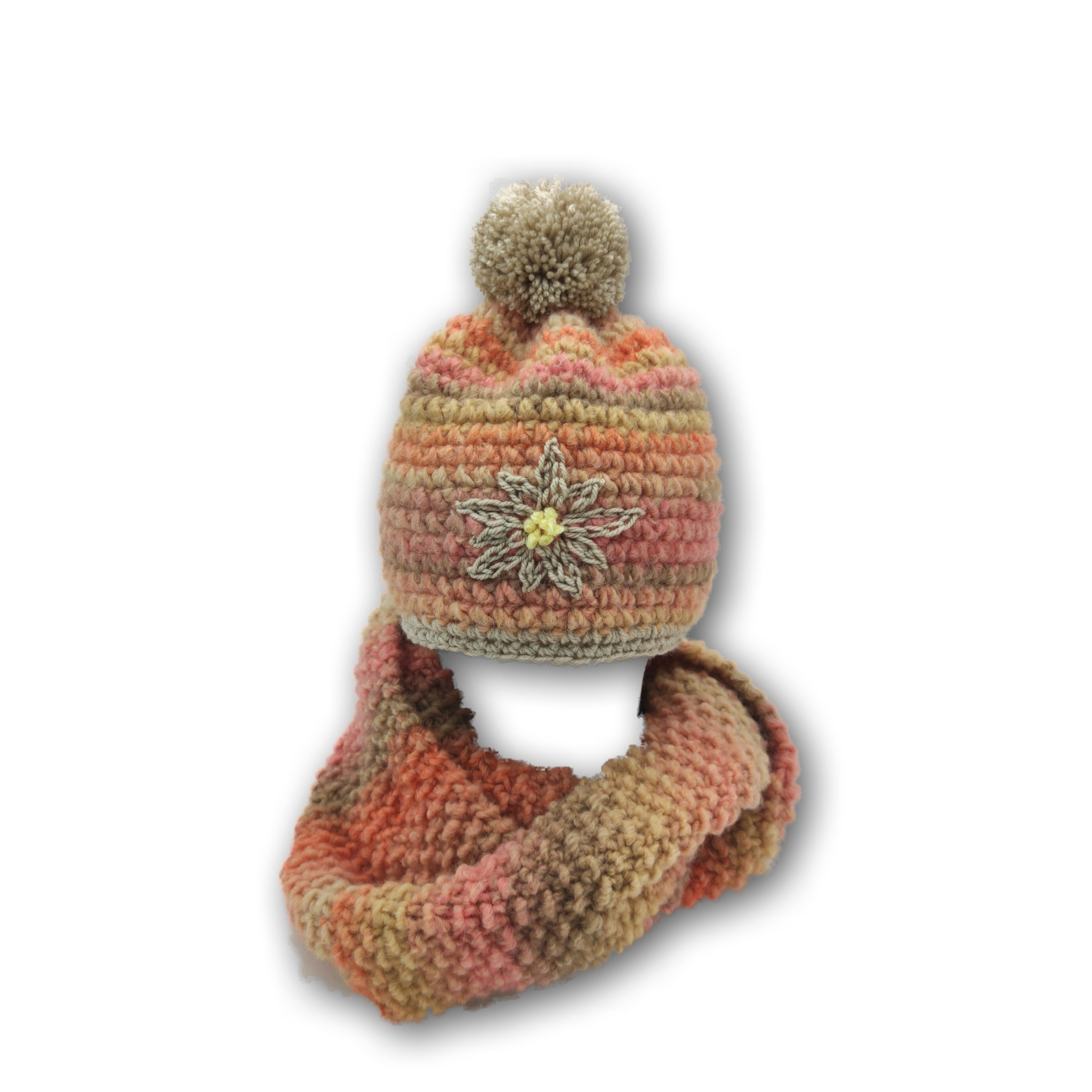 set loop schal und mütze handmade